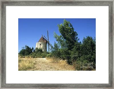 Moulin Of Daudet. Fontvieille. Provence Framed Print
