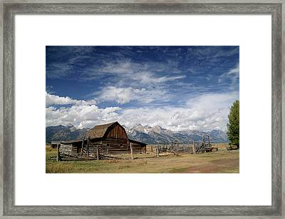 Framed Print featuring the photograph Moulton Barn by Geraldine Alexander