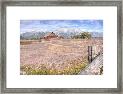 Framed Print featuring the photograph Moulton Barn On Mormon Row Late Summer 2012 B by Katie LaSalle-Lowery