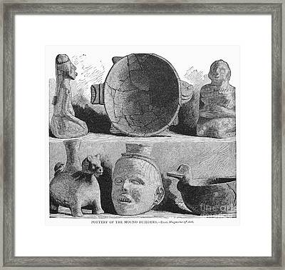 Mound Builders: Pottery Framed Print by Granger