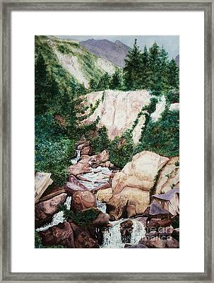 Mounrain Creek Falls Framed Print by Vikki Wicks