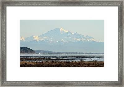 Mount Baker From Boundary Bay Framed Print by Pierre Leclerc Photography