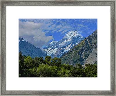 Framed Print featuring the photograph Mount Cook by David Gleeson