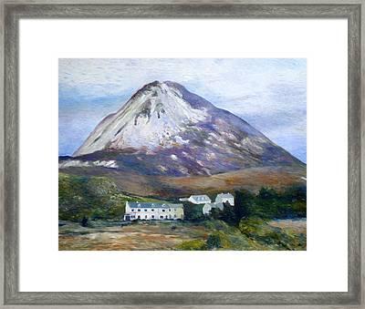 Mount Errigal Co. Donegal Ireland 1997 Framed Print by Enver Larney