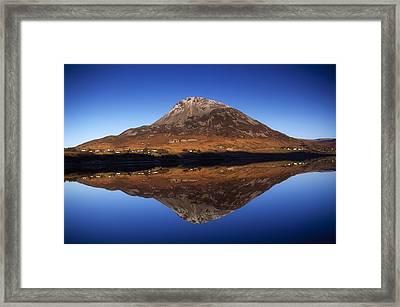 Mount Errigal, Lough Nacung, Dunlewy Framed Print