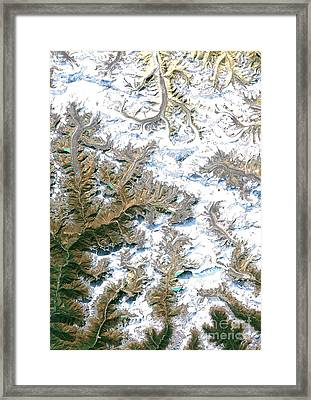 Mount Everest  Framed Print by Planet Observer and Photo Researchers