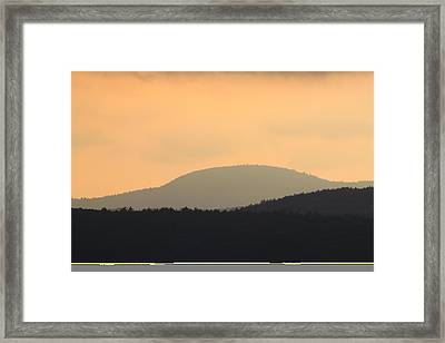 Mount Grace Warwick Ma Framed Print by John Burk