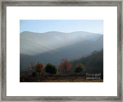 Mount Hermon In Fall Framed Print by Issam Hajjar