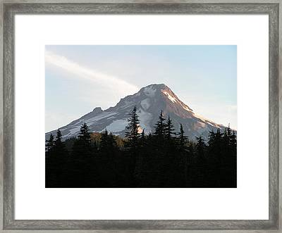 Framed Print featuring the photograph Mount Hood Oregon by Rand Swift