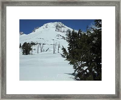 Mount Hood Oregon Ski Trail Framed Print