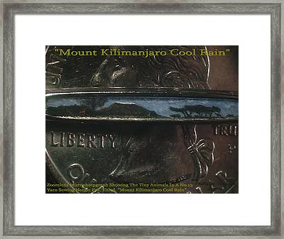 Mount Kilimanjaro Cool Rain  Framed Print by Phillip H George