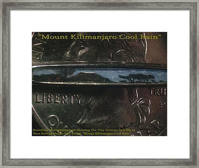 Mount Kilimanjaro Cool Rain  Framed Print by Phillip H George