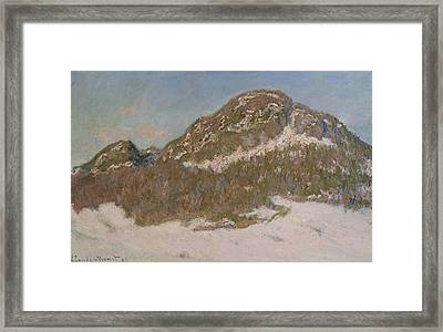 Mount Kolsaas In Sunlight Framed Print by Claude Monet