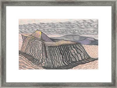 Mount Methaluna And The Hogarth Plateau On The Plains Of Bumpo Framed Print