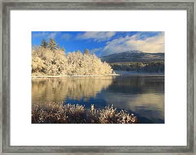 Mount Monadnock Early Winter Snow Framed Print by John Burk