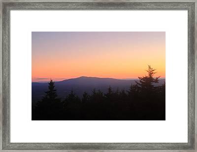 Mount Monadnock From Pack Monadnock At Dusk Framed Print by John Burk