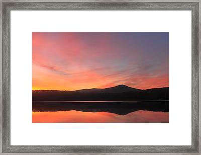 Mount Monadnock Sunrise From Stone Pond Framed Print by John Burk