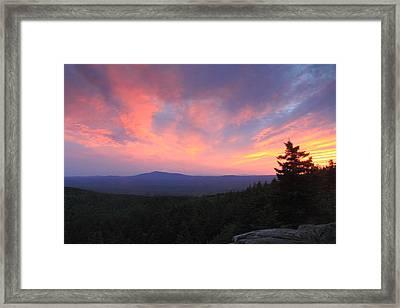 Mount Monadnock Sunset From North Pack Monadnock Framed Print by John Burk