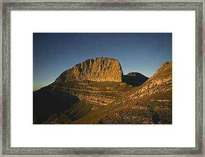 Mount Olympus, Home Of The Gods Framed Print by Martin Gray