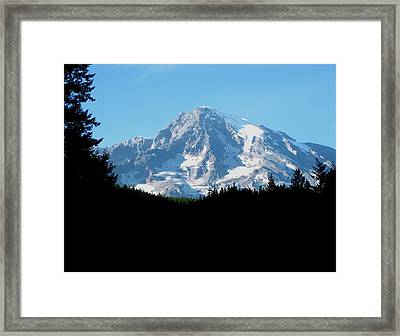 Mount Rainier 11 Framed Print by Kathy Long