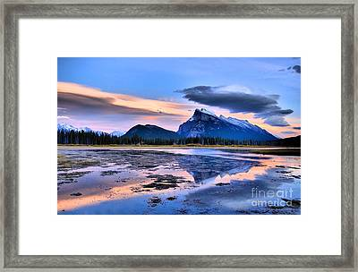 Mount Rundle In The Evening Framed Print by Tara Turner
