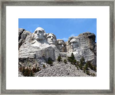 Mount Rushmore Usa Framed Print by Olivier Le Queinec