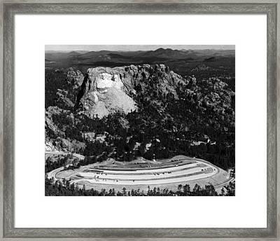Mount Rushmore, With The Faces Of U.s Framed Print by Everett