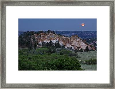 Mount Saint Francis And The Super Moon Framed Print