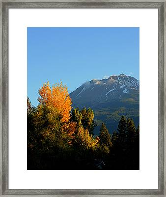 Mount Shasta Fall Framed Print