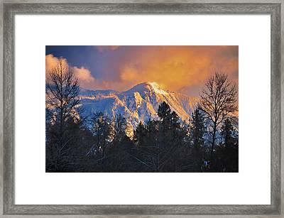 Mount Si Winter Wonder Framed Print by Scott Massey