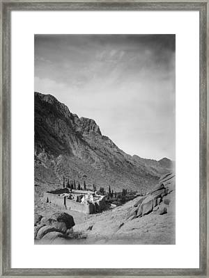 Mount Sinai, To Sinai Via The Red Sea Framed Print by Everett