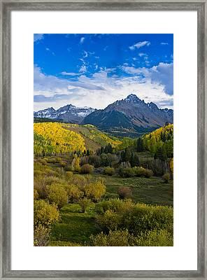 Mount Sneffels Under Autumn Sky Framed Print