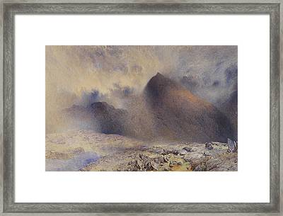 Mount Snowdon Through Clearing Clouds Framed Print by Alfred William Hunt
