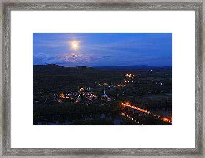 Mount Sugarloaf Full Moon Over Sunderland Framed Print