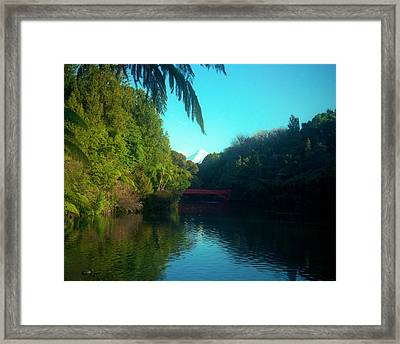 Mount Taranaki Aka Mt Egmont New Zealand Framed Print