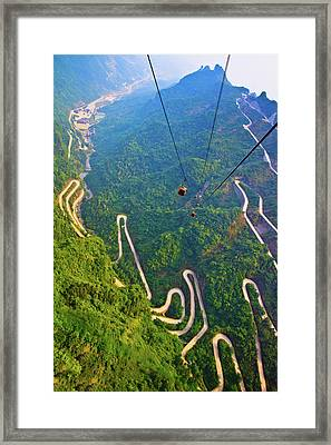 Mount Tianmen Framed Print by Feng Wei Photography