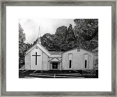 Mount Union Church Of The Brethren Framed Print by Julie Brugh Riffey