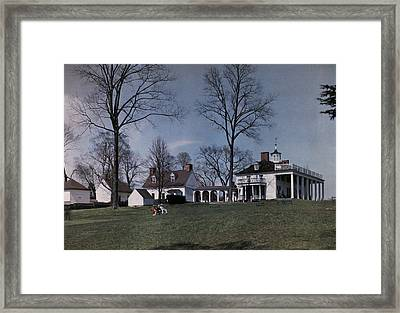 Mount Vernon Sits On A Hill Overlooking Framed Print by Clifton R. Adams
