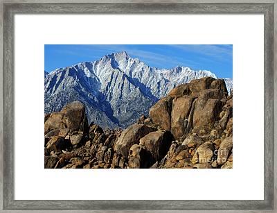 Mount Whitney Splendor Framed Print
