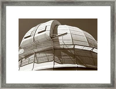 Mount Wilson Observatory Framed Print by Lorraine Devon Wilke