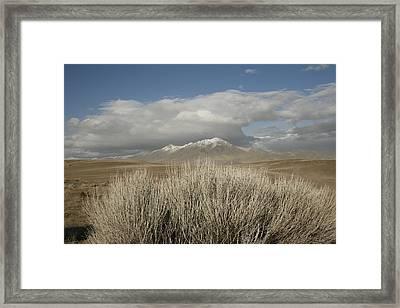 Mountain And Desert Framed Print
