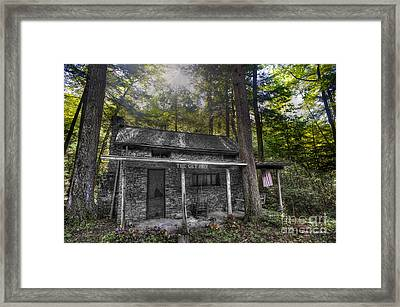 Mountain Cabin Framed Print by Dan Friend
