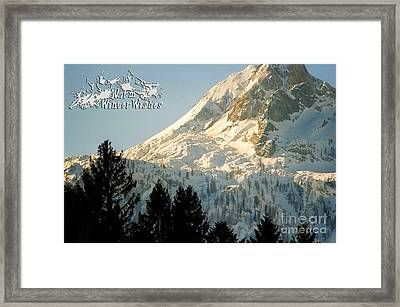 Mountain Christmas 2 Austria Europe Framed Print by Sabine Jacobs