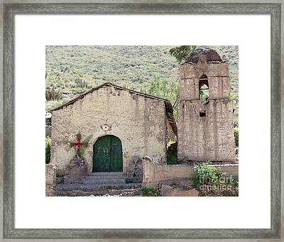 Mountain Church Framed Print