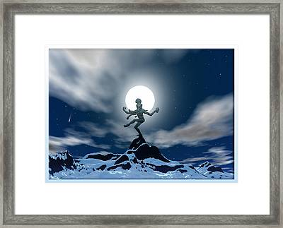 Mountain Deity Framed Print by Harald Dastis
