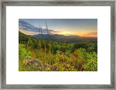 Mountain Evening Framed Print by Debra and Dave Vanderlaan