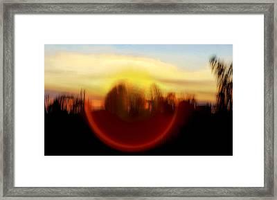 Mountain Eye Framed Print by Kantilal Patel