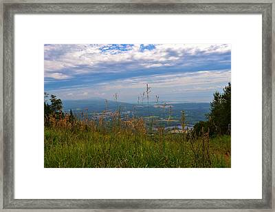 Mountain Fall Quebec Framed Print by Josee Dube