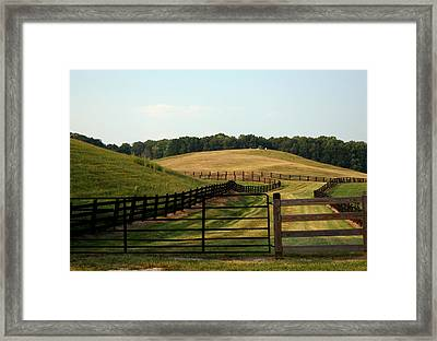 Mountain Farmland Framed Print