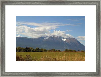 Mountain Field Framed Print by Kim French